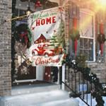 All Hearts Come Home For Christmas Flag , Garden Flag Peace Flag, House Flag, Farmhouse Peace Flag, Rustic Country Decor, Yard Decor -  Garden House Flag House