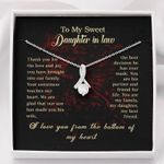Alluring Beauty Necklace - Personalized To My Daughter-In-Law Necklace For Her Birthday, I Love You From The Bottom Of My Heart, Birthday Gift For Daughter In Law