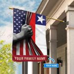 America Chile Personalized House Flag  - Double Sided Flag