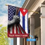 America Cuba Personalized Flag  - Double Sided Flag - House Flag