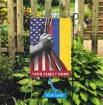 America Colombia Personalized Garden Flag