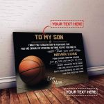 Basketball Custom Canvas Prints - To My Son