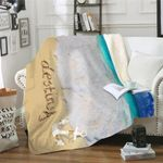 Beach Name In Sand Personalized Sherpa Blanket