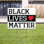 Black Lives Matter Yard Sign We Believe | Black Power | Resist Racism | African American | Social Justice | Protest Racism | Human Rights