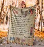 Blanket  Letter To My Daughter Blanket, Love Mom, Blanket For Daughter Gift, Fleece Blanket