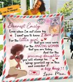 Blanket  To My Daughter Love Mom Fleece Blanket, Love My Daughter Custom Blanket, Blanket Handmade, Blanket For Daughter, Mom And Daughter Blanket