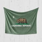 Christmas California Republic Green Blanket