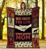 Mothers Day Blanket  Dog Blanket Best Friend For Life German Shepherd Dog Mom Fleece Blanket Mother'S Day