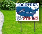 Together We are Strong, Fourth Of July Independence Day 4th July Yard Sign, Yard Decor