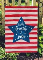 4th Of July Flag, Happy Fourth Of July Double Sided Garden Flag, Independence Day, Memorial Day, Yard Outdoor Decor