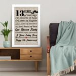 13th wedding anniversary gifts, 13 years canvas wall art for couple, husband/wife, for him/her, for parents