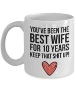 10th Anniversary Mug, Gift for Best Wife, Her, Couple, Gift for 10 Year Anniversary, 10th Year Marriage