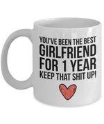 1 Year Anniversary, Girlfriend Mug, Girlfriend Gift, 1st Anniversary, Gift for Girlfriend, Friendship Anniversary, Girlfriend Anniversary