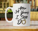34th Anniversary Mug, Gift for Husband, Him, Couple, Gift for 34 Year Anniversary