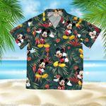 Mickey Hawaiian Summer, Mickey Short Sleeve Button Hawaiian Shirt