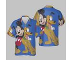 Disney Mickey And Friends Mickey And Pluto Best Buds T-Shirt Hawaiian Shirt