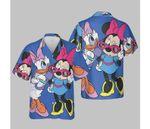 Disney Mickey And Friends Daisy & Minnie Fashion T-Shirt Hawaiian Shirt
