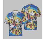 Disney Mickey And Friends Retro Group Shot Hawaiian Shirt