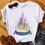 Walt Disney World 50th Anniversary, Magic Kingdom, Mickey Ears, Balloon, Disney Family Trip T-shirt