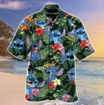 Stitch And Lilo Art Hawaiian Shirt - Stitch Hawaii Shirt, Button Shirt Tropical Shirt - Hawaii Style - MLB Hawaii Shirt