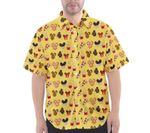 Mickey Snacks Print Button Up