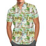 Jungle Cruise Ride - Disney Parks Inspired Men's Button Down Short-Sleeved Shirt