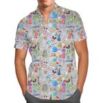 The Epcot Experience - Disney World Inspired Men's Button Down Short-Sleeved Shirt