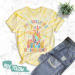 Tie Dye Pale Yellow Shirt, Disney 50th, Disney Anniversary Shirts, Walt Disney World, Disney Trip Shirt, Disney Castle Shirt
