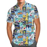 Tomorrowland Disney Inspired - Men's Button Down Short-Sleeved Shirt