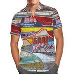 The Mosaic Wall - Disney Inspired Men's Button Down Short-Sleeved Shirt