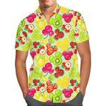 Mickey's Fruit Fiesta - Disney Inspired Men's Button Down Short-Sleeved Shir
