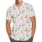 Heihei and Pua - Disney Inspired Moana Men's Button Down Short-Sleeved Shirt