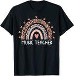 Back to school 2021 - Leopard Cute Rainbow Music Back To School Shirt for teachers