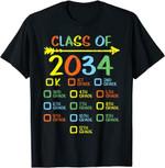 Back to school 2021 - Checklist Handprint Class Of 2034 Back To School Shirt for teachers
