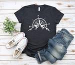 Mountain Compass T-Shirt, Camping T-Shirt,Adventure Shirt,Camp Lover Shirt,Camper T-Shirt,Outdoor Tee,Hiking,Wanderlust Tee,Adventure Shirt