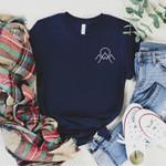 Mountains Tee Shirt - Nature Lover Gift - Adventure T Shirt - Bella Canvas Unisex Nature Lover Shirt- Outdoor Shirt