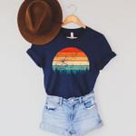 Retro Sunset Shirt, Retro Sun Tshirt, Retro Sunset Tee, Nature Tshirt, Outdoor Shirt,Retro Print Shirt, Nature Graphic Shirt,Retro Sun Shirt