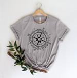 Compass T-Shirt, Camping T-Shirt,Adventure Shirt,Camp Lover Shirt,Camper T-Shirt,Outdoor Tee,Hiking,Wanderlust Tee,Adventure Shirt