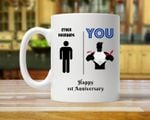 1st Funny Anniversary Mug, Gift for Husband, Him, Couple, Gift for 1 Year Anniversary