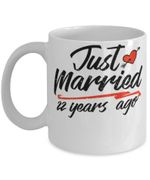 22nd Wedding Anniversary Mug, Gift for Couple, Husband & Wife, Him & Her, Just Married 22 Years Ago
