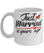 28th Wedding Anniversary Mug, Gift for Couple, Husband & Wife, Him & Her, Just Married 28 Years Ago