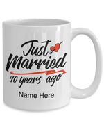 40th Wedding Anniversary Mug, Gift for Couple, Husband & Wife, Him & Her, Just Married 40 Years Ago