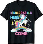 Back to school 2021 - Unicorn Kindergarten Here I come Back To School Shirt for teachers and Kids