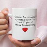 30th Wedding Anniversary Mug Gift for Couple, Husband. Him, 30 Year Anniversary Gift For Him