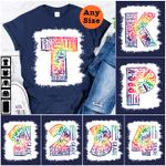 Back to school 2021 - Personalized Typography Tie-dye Color Back To School Shirt for Kids and teachers, custom grade