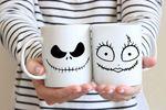 Nightmare Before Christmas Mug   Halloween Mug   His Hers Mugs Ja.ck Sk.elling.ton Jack and Sally Disney Gift Mug Tim Burton Christmas Mug