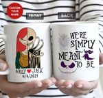 Personalized The Nightmares Jack And Sally We're Simply Meant To Be Mug, Jack And Sally Mug
