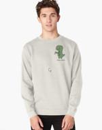 Tea-Rex (Green) Pullover Sweatshirt