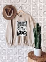Halloween Vintage Sweatshirt, You Can't Sit With Us, Sanderson Sisters Shirt, Halloween Shirt, It's Just A Bunch Of Hocus Pocus