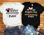 Disney anniversary shirts, Disney husband wife shirts, Disney couple shirts,Disney hubby wifey, Disney matching shirts, Disney adult shirts